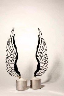 Ken Goldman - Angel Wing shabbat candlesticks