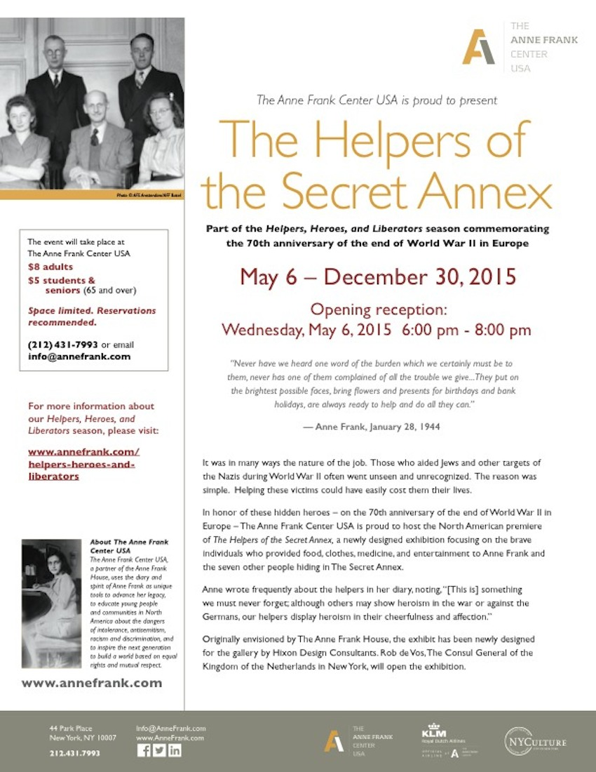 1944 and secret annex This new book, the backyard of the secret annex, was written by 70-year-old gerard kremer it is based on the recollections of his father, gerald kramer senior, a member of the dutch resistance movement who was acquainted with a woman by the name of ans van dijk.