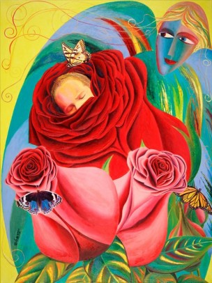 tsvaygenbaum_israel_2_angel_of_roses_oil_on_canvas_h48_x_w36