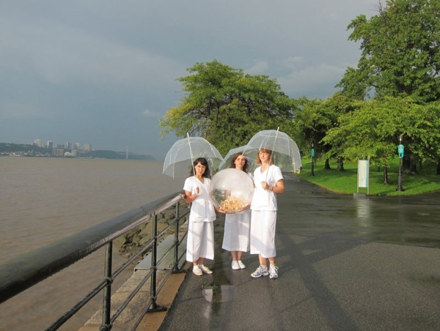 "Sarah Zell-Young - The Women of Tashlich,	 12 X 18,"" Photograph, 2012"