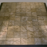 Rail Routes to Concentration Camps during WWII, 81 Cast Cement Tiles