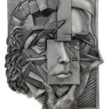 Facade, Aluminum Bas-Relief Sculpture
