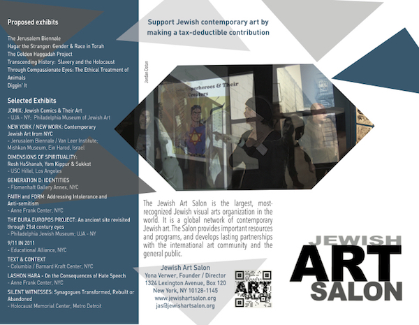 New Jewish Art Salon Brochure  Jewish Art Salon