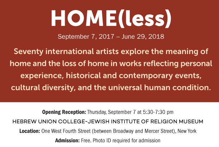 Home less at nycs huc museum jewish art salon who explore the meaning of home and the loss of home in works reflecting personal experience historical and contemporary events cultural diversity malvernweather Gallery