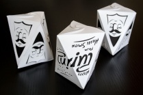 "Hillel Smith ""Ambigram mishloach manot boxes"""