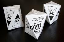 "Hillel Smith ""Ambigram mishloach manot boxes"""