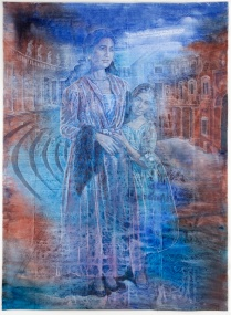 """Ruth Weisberg """"Tribute"""", Mother and daughter in costume for Purim"""